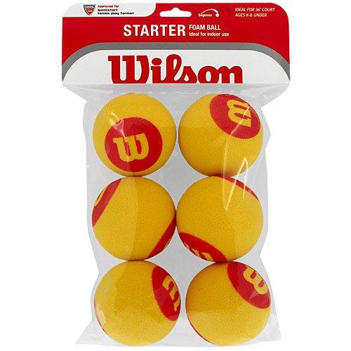 Wilson Starter Foam Ball 6 Pack: Wilson Tennis Balls