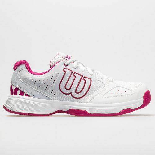 Wilson Stroke Junior White/Halogen Blue/Very Berry: Wilson Junior Tennis Shoes