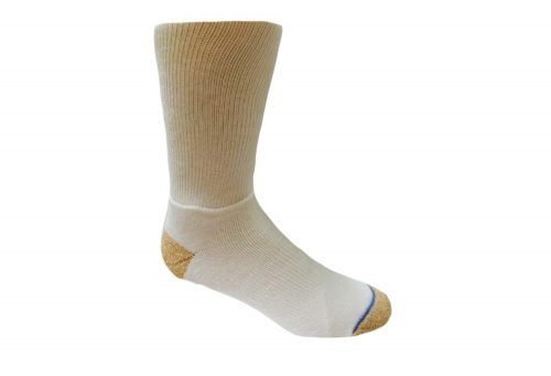 WrightSock Double Layer Court Crew Socks - white, small