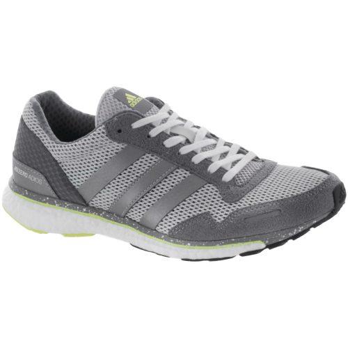 adidas Adizero Adios 3: adidas Women's Running Shoes Grey/Silver Metallic/Gre