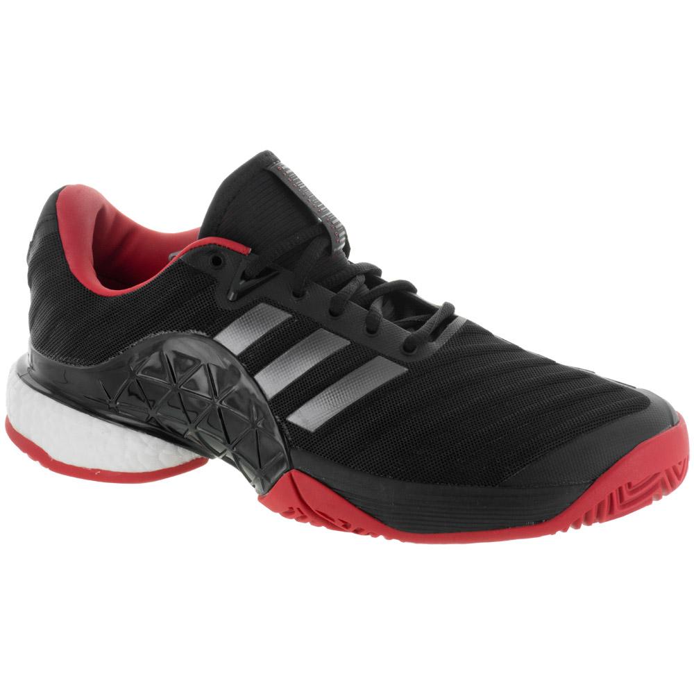 adidas Barricade 2018 Boost: adidas Men's Tennis Shoes Core Black/Night Metallic/Scarlet