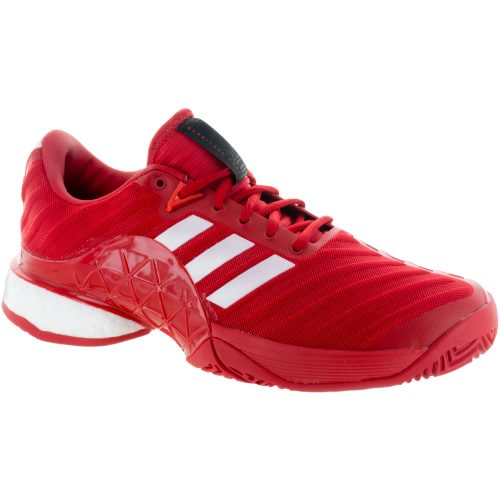 adidas Barricade 2018 Boost: adidas Men's Tennis Shoes Scarlet/White
