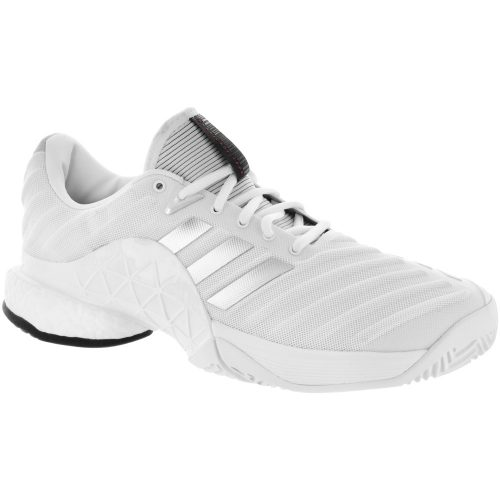 adidas Barricade 2018 Boost: adidas Men's Tennis Shoes White/Matte Silver