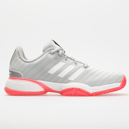 adidas Barricade 2018 Junior Matte Silver/White/Flash Red: adidas Junior Tennis Shoes