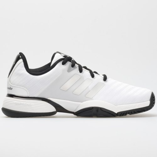 adidas Barricade 2018 Junior White/Matte Silver/Black: adidas Junior Tennis Shoes