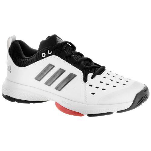 adidas Barricade Classic Bounce: adidas Men's Tennis Shoes White/Night Metallic/Scarlet