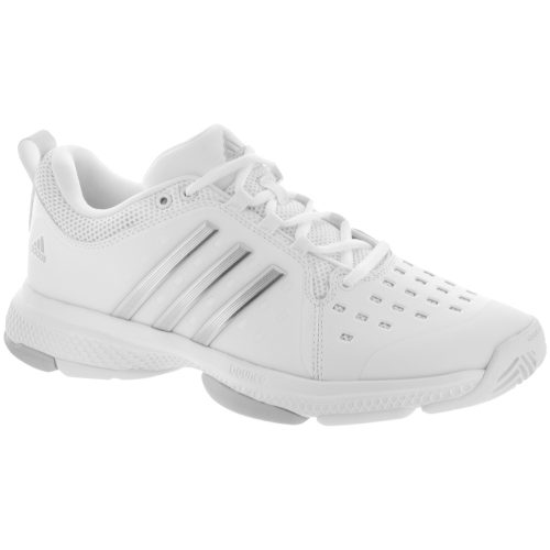 adidas Barricade Classic Bounce: adidas Women's Tennis Shoes White/Silver Metallic