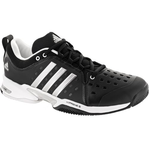 adidas Barricade Classic Wide: adidas Men's Tennis Shoes Black/Silver Metallic/White