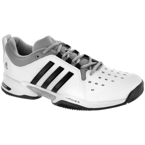 adidas Barricade Classic Wide: adidas Men's Tennis Shoes White/Black/Grey