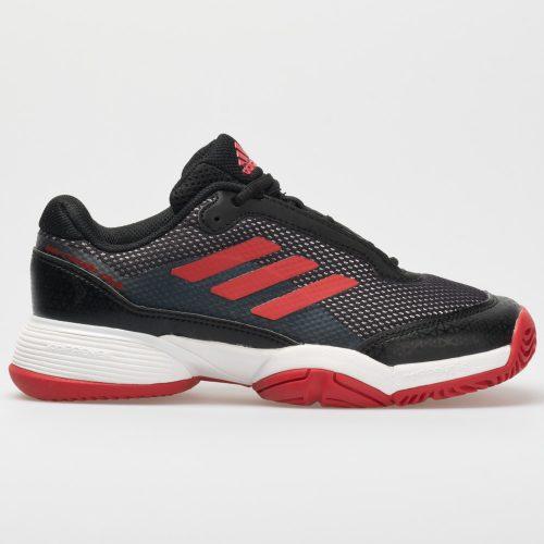 adidas Barricade Club Junior Black/Scarlet White: adidas Junior Tennis Shoes