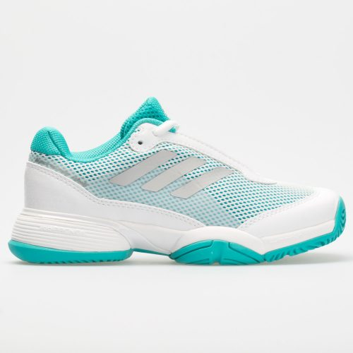 adidas Barricade Club Junior Hi-Res Aqua/White/Matte Silver: adidas Junior Tennis Shoes