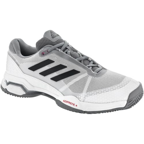 adidas Barricade Club: adidas Men's Tennis Shoes White/Core Black/Grey