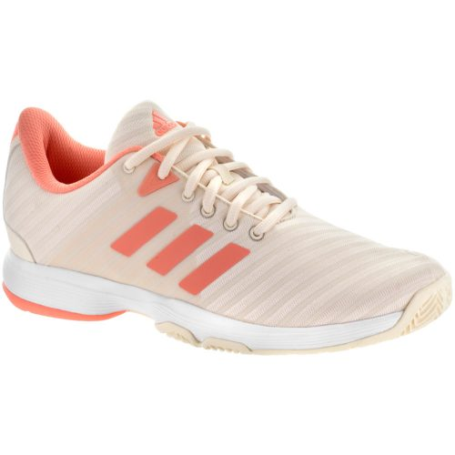 adidas Barricade Court: adidas Women's Tennis Shoes Ecru Tint/Chalk Coral/White