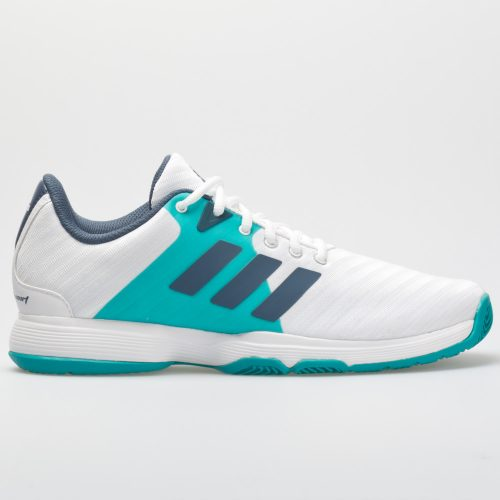adidas Barricade Court: adidas Women's Tennis Shoes White/Tech Ink/Hi-Res Aqua