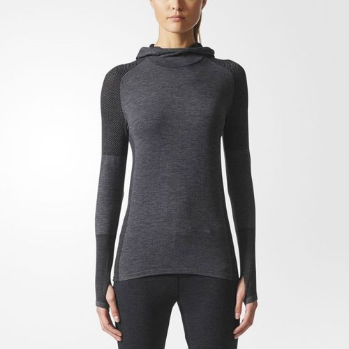 adidas Climaheat Primeknit Long Sleeve Hoodie: adidas Women's Running Apparel