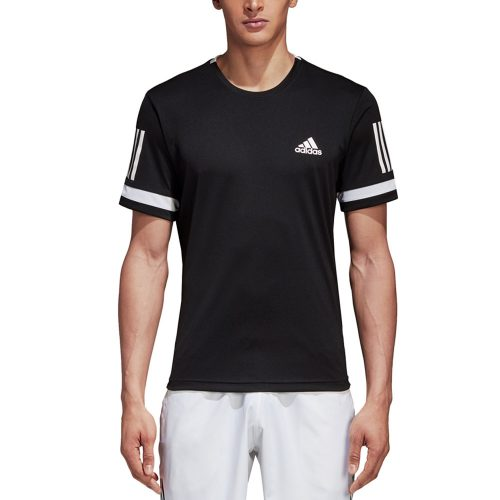 adidas Club 3 Stripes Tee: adidas Men's Tennis Apparel