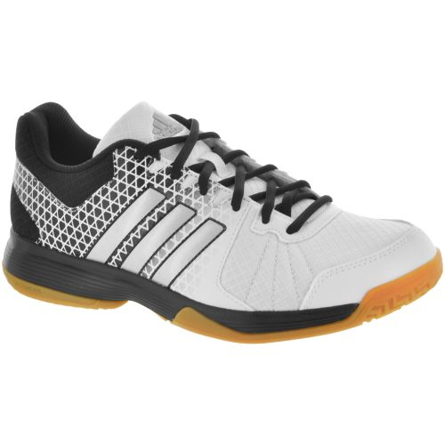 adidas Ligra 4: adidas Women's Indoor, Squash, Racquetball Shoes White/Matte Silver/Black