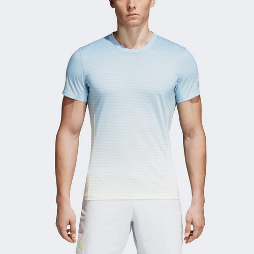 adidas Melbourne Striped Tee: adidas Men's Tennis Apparel