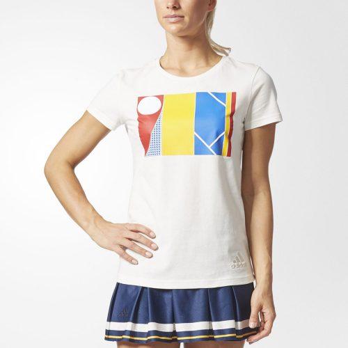 adidas Pharrell Williams NY Graphic Tee: adidas Women's Tennis Apparel