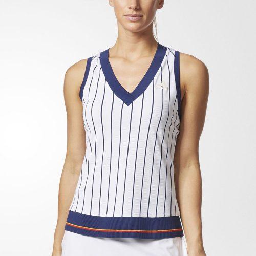 adidas Pharrell Williams NY Striped Tank: adidas Women's Tennis Apparel
