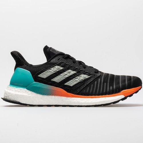adidas SolarBoost: adidas Men's Running Shoes Black/Grey/Hi-Res Aqua