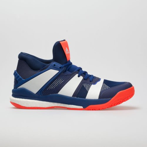 adidas Stabil X Mid: adidas Men's Indoor, Squash, Racquetball Shoes Mystery Ink/White/Solar Red