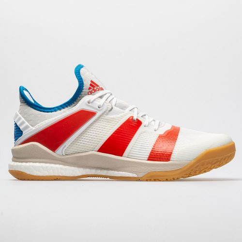 adidas Stabil X: adidas Men's Indoor, Squash, Racquetball Shoes White/Solar Red/Bright Blue