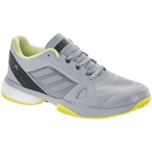 adidas Stella Barricade Boost: adidas Women's Tennis Shoes Eggshell Grey/Aero Lime