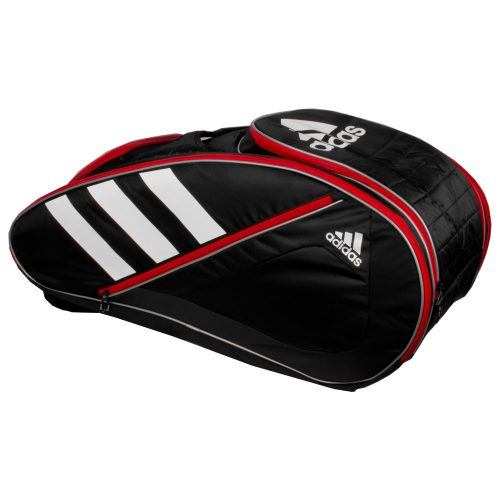 adidas Tour Team 12 Racquet Bag Black/White/Scarlet: adidas Tennis Bags