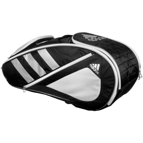 adidas Tour Team 12 Racquet Bag Black/White/Silver: adidas Tennis Bags