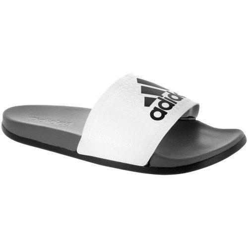 adidas adilette CF+ C: adidas Men's Sandals & Slides White/Iron Metallic/Vista Grey