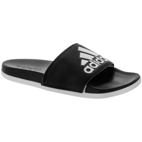 adidas adilette CF+ logo: adidas Women's Sandals & Slides Core Black/White/Core Black