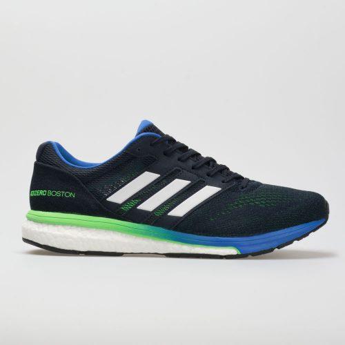 adidas adizero Boston 7: adidas Men's Running Shoes Legend Ink/Shock Lime/Hi-Res Blue