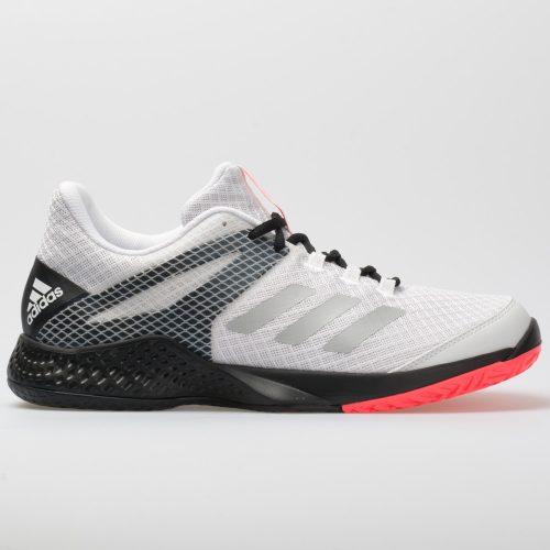 adidas adizero Club 2: adidas Men's Tennis Shoes White/Matte Silver/Black
