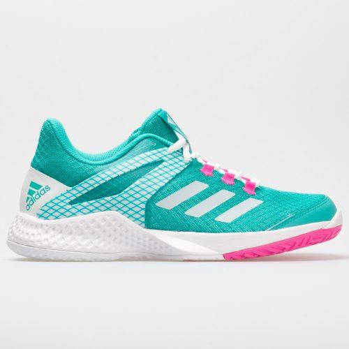 adidas adizero Club 2: adidas Women's Tennis Shoes Hi-Res Aqua/White/Shock Pink