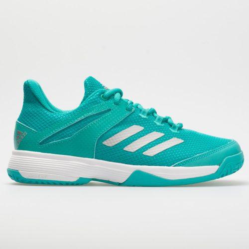 adidas adizero Club Junior Hi-Res Aqua/Matte Silver/White: adidas Junior Tennis Shoes