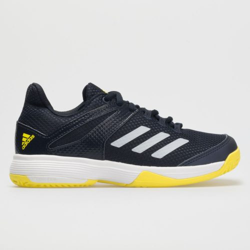 adidas adizero Club Junior Legend Ink/White/Shock Yellow: adidas Junior Tennis Shoes