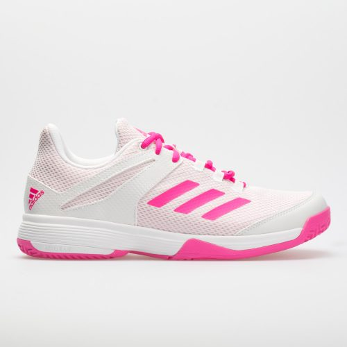 adidas adizero Club Junior White/Shock Pink: adidas Junior Tennis Shoes
