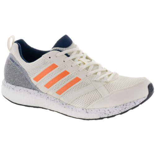 adidas adizero Tempo 9: adidas Men's Running Shoes Off White/Hi-Res Orange/Collegiate Navy