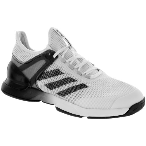 adidas adizero Ubersonic 2.0: adidas Men's Tennis Shoes White/Core Black/Grey
