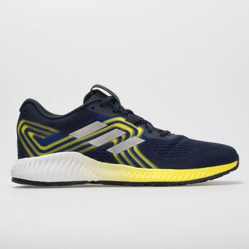 adidas aerobounce: adidas Men's Running Shoes Mystery Ink/Silver/Shock Yellow