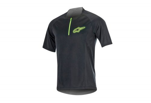 alpinestars Rover 2 SS Jersey - Men's - black/bright green, medium