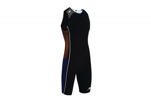 blueseventy TX3000 Back Zip Tri Suit - Men's - black/orange/blue, small