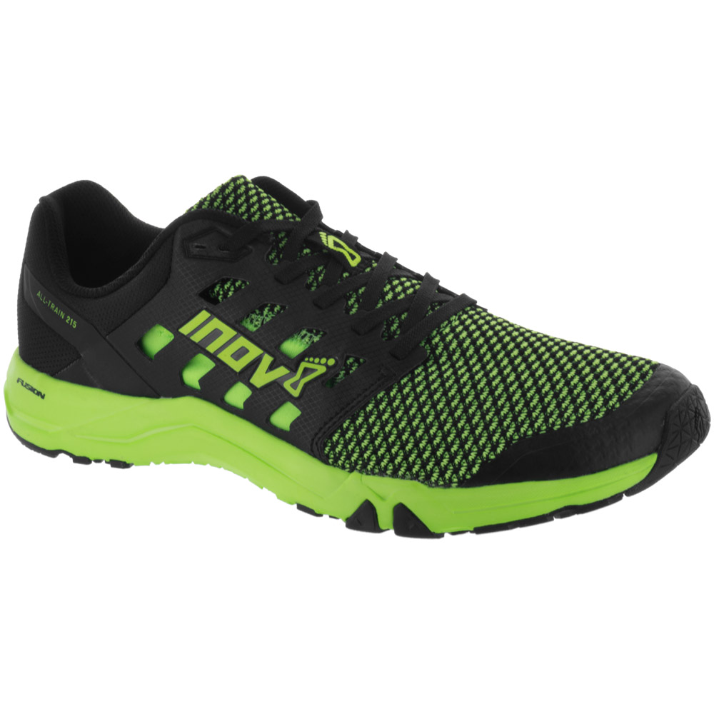 inov-8 All Train 215 Knit: Inov-8 Men's Training Shoes Green/Black