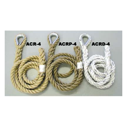 "1 1/2"" x 18' Polypro / Rope Eye Indoor Adventure / Traverse Climbing Rope"