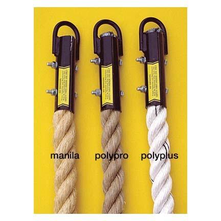 "1 1/2"" x 18' Unmanila / Braided Indoor Gymnasium Climbing Rope"