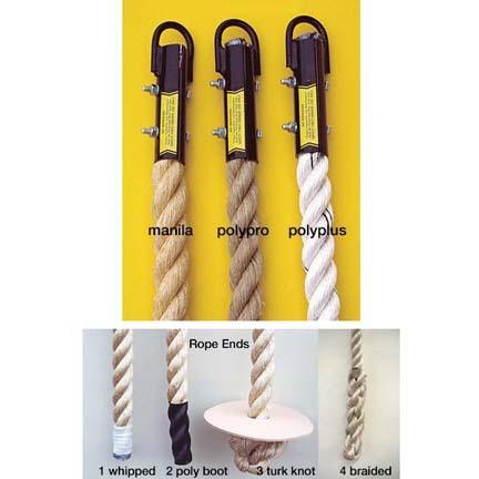 "1 1/4"" x 18' Manila / Whipped Climbing Rope"