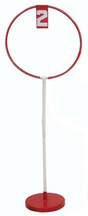 "1 Hole Indoor 52"" Hoop Disc Toss Target Game with Base"