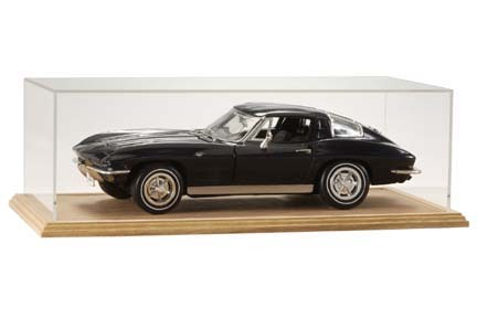 1/12 Scale Single Car Display Case with Oak Wood Base from Clearwater Displays