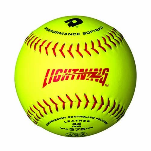 "12"" ASA Optic Yellow Leather Lightning Softballs from Wilson (1 Dozen)"
